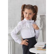 """Блузка белого цвета с бантом """"Фредерика"""""""