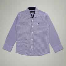 Рубашка для мальчиков в тонкую вертикальную полоску
